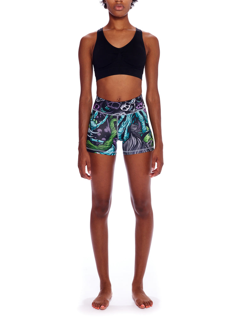 Skeleton Witch Activewear Shorts