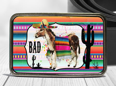 Bad Ass Donkey Boho Belt Buckle