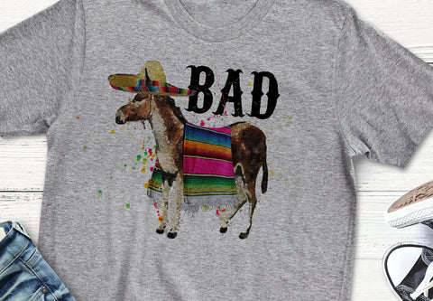 Bad Ass Funny Donkey T Shirt Flattering Fit Tee