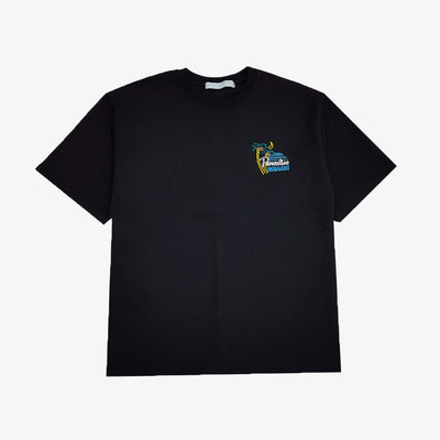 [AT THE MOMENT] Paradise Half T-shirt (BLACK)