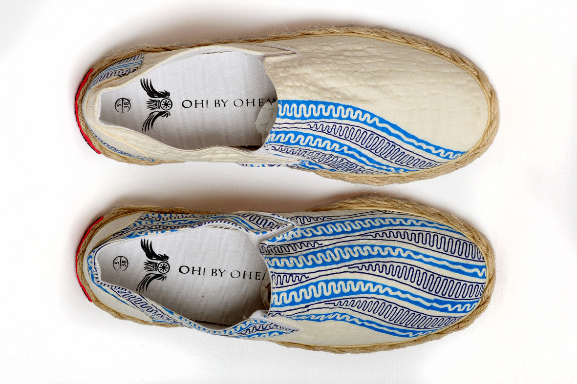 Patterned Espadrille-Pencil - OHEMA OHENE AFRICAN INSPIRED FASHION  - 2