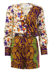 Pamela- Wrap front African print playsuit - OHEMA OHENE AFRICAN INSPIRED FASHION  - 1