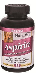 NutriVet Aspirin Pain Relief (Large Dogs) | Canine Supplements