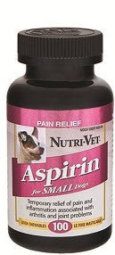 NutriVet Aspirin Pain Relief (Small Dogs) | Canine Supplements