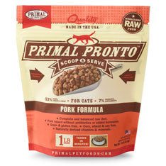 Primal - Pork Pronto - Raw Cat Food - 1 lb (Local Tampa Bay Delivery Only)