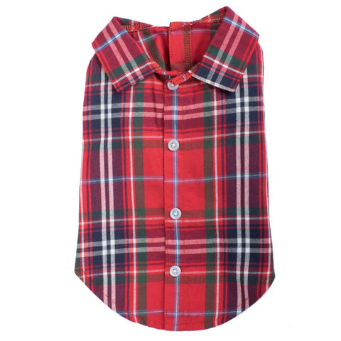 The Worthy Dog - Red Plaid Shirt