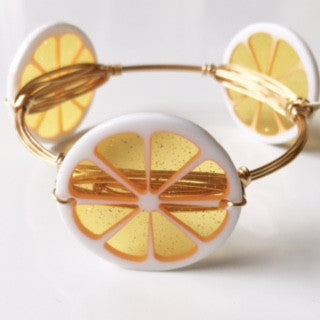 *Orange Fruit Slice Bangle