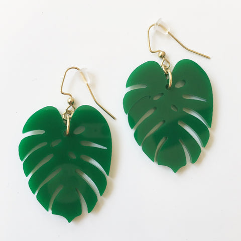 *Palm Leaf Earrings