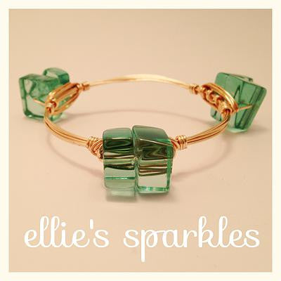 Mint Quartz Cluster Bangle