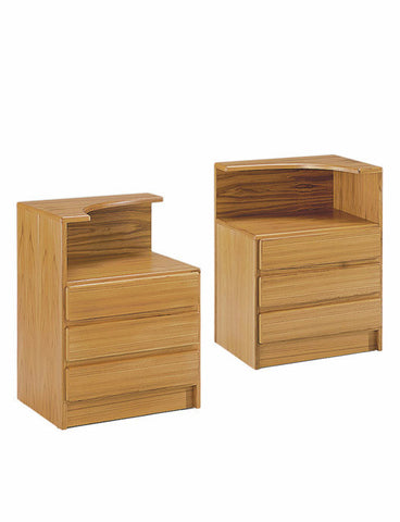 Classica Nightstands Teak Wood 3 Drawers