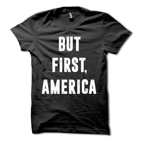 But First America Shirt Black
