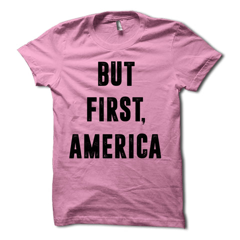 But First America Shirt Pink