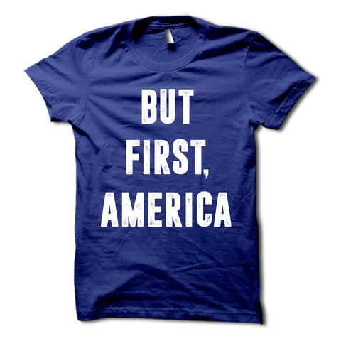 But First America Shirt Blue