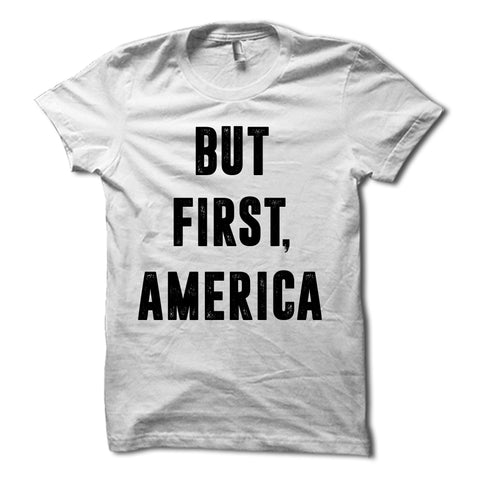 But First America Shirt white