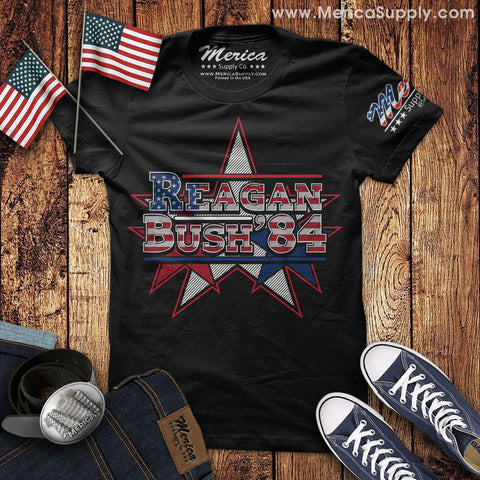 Patriotic Reagan Bush 84 T-Shirt