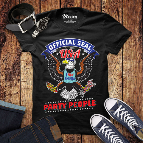 Official Seal of the USA Party People Shirt