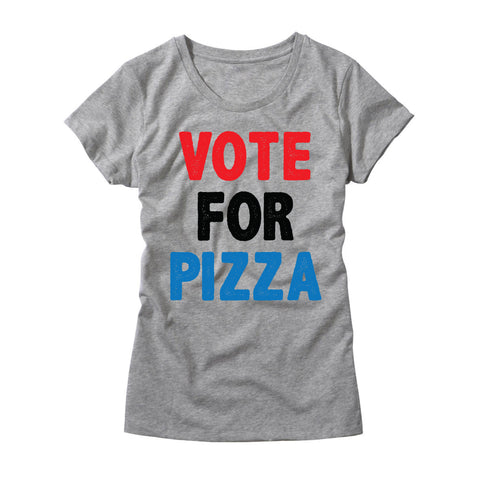 Womens Vote For Pizza T-Shirt
