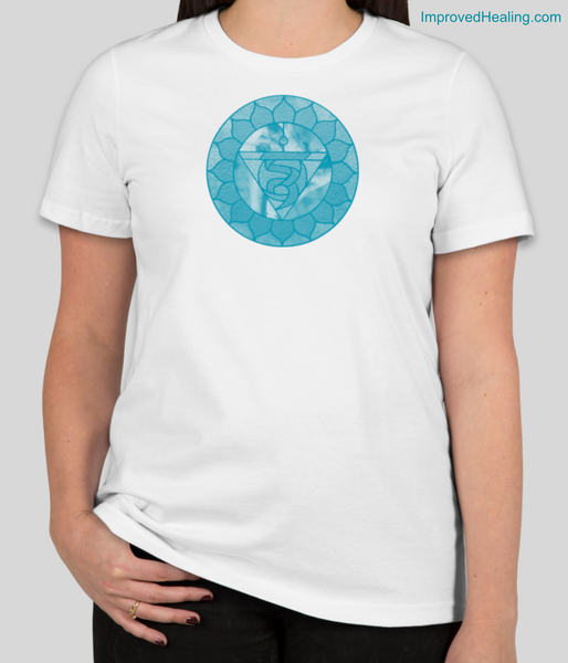 Throat Chakra T-Shirt - White