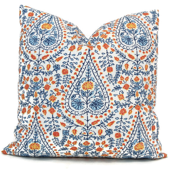 John Robshaw Blue and Orange Busun Block