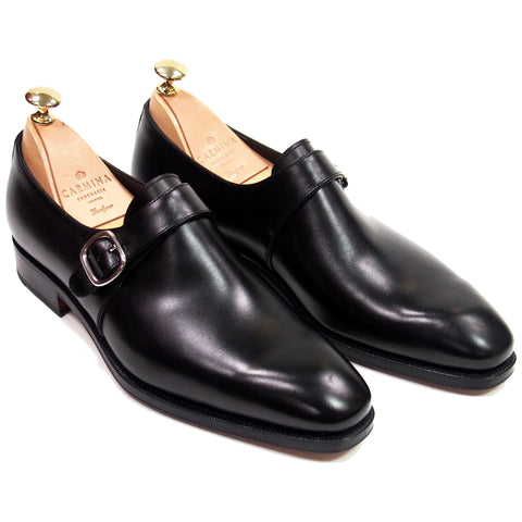 Carmina Shoemaker Single Monk Oxford - Black Calfskin - Made in Spain