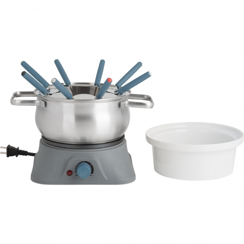 TRUDEAU PILLAR 3-IN-1 ELECTRIC FONDUE SET