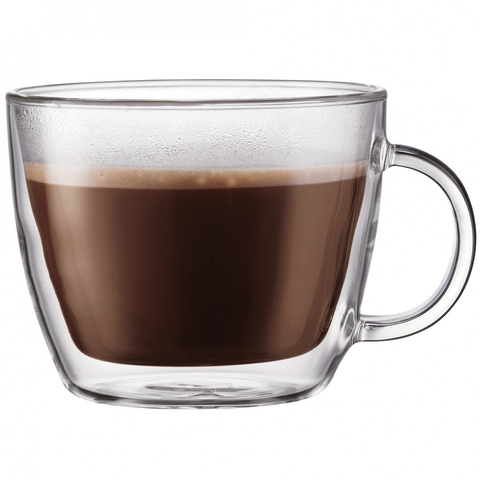 BODUM BISTRO 2-PIECE CAFE LATTE CUP DOUBLE WALL