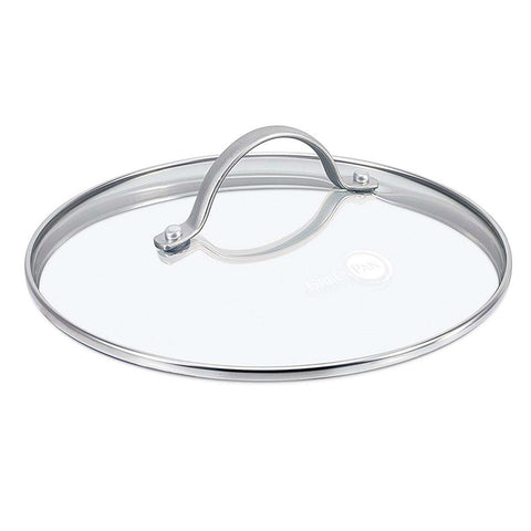 GREEN PAN GLASS LID 9.5'' WITH  STAINLESS STEEL HANDLE
