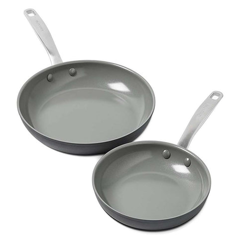 GREEN PAN CHATMAN CERAMIC NON-STICK 2-PIECE OPEN FRYPAN SET
