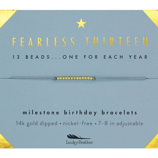 Birthday Milestone Bracelet - Fearless Thirteen