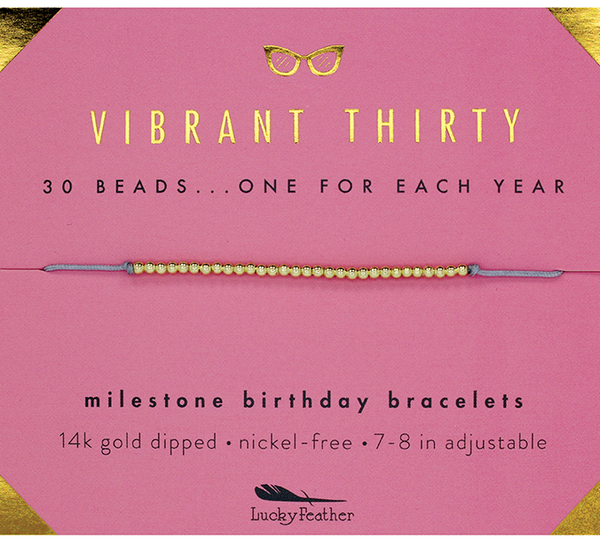 Birthday Milestone Bracelet - Vibrant Thirty