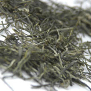 Emerald Tips Green Needle  Fancy Leaf Estate Loose Tea  Silver Tips