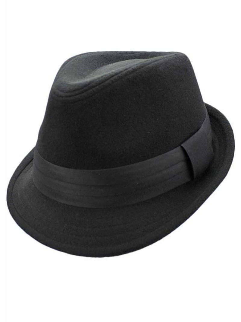 Wool Felt Fedora Hat Trimmed With Hatband