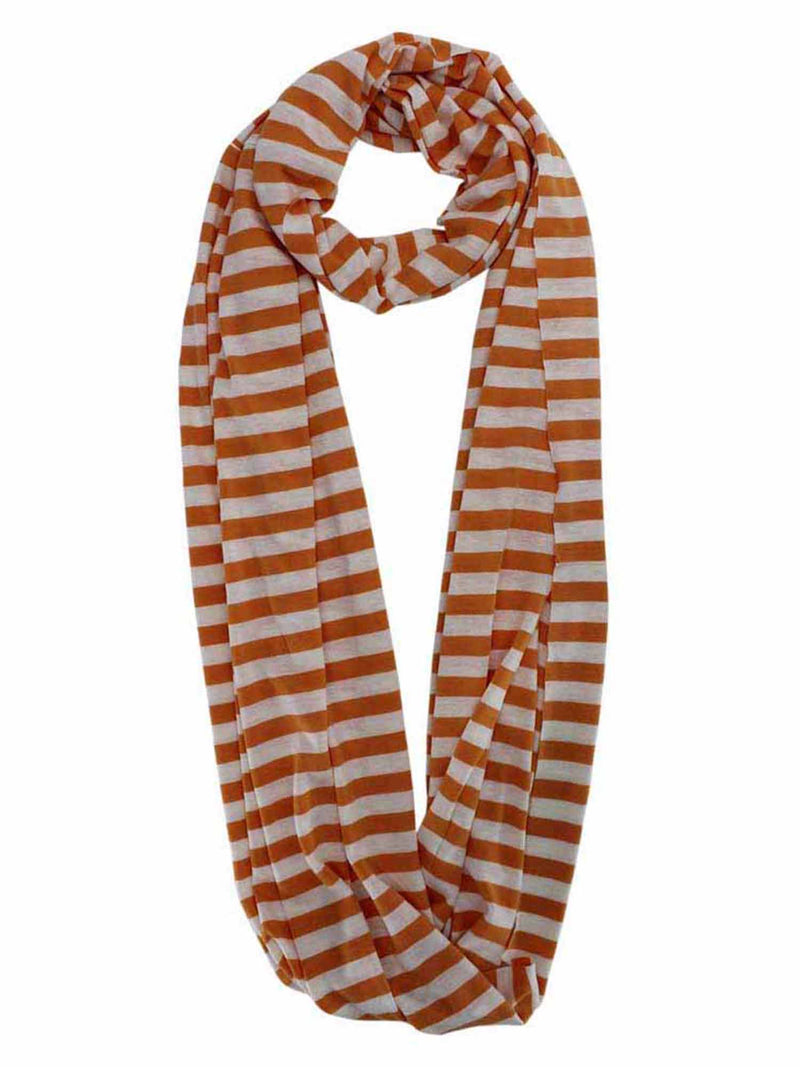 Striped Circle Infinity Scarf