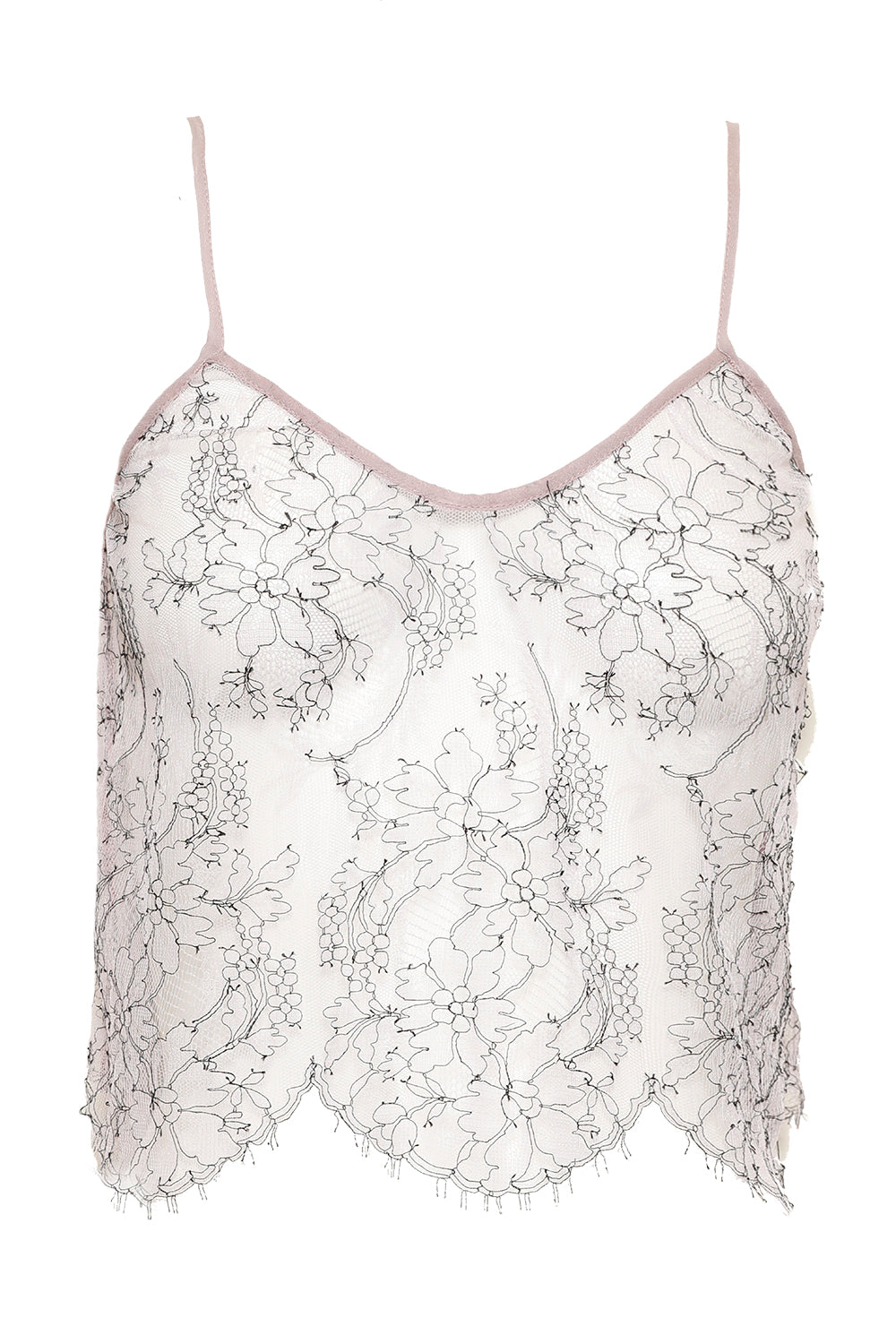 VIOLET VALENTINE SHEER LACE CAMISOLE