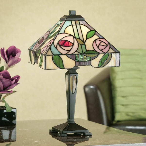 Tiffany Bedside Lamps - Willow Small Tiffany Lamp 64386