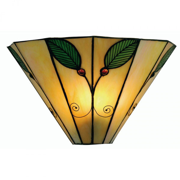 Tiffany Wall Lights - Oaks Tiffany Leaf Wall Light OT 3020 WB