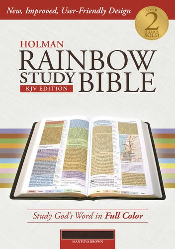 Holman Rainbow Study Bible: KJV Edition, Mantova Brown LeatherTouch (Hardcover)