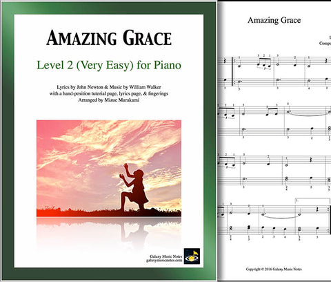 Amazing Grace Level 2 - Cover & 1st piano sheet
