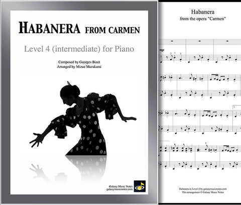 Habanera | Carmen | Level 4 | Cover & partial 1st page