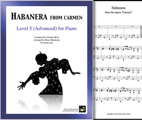 Habanera from Carmen Level 5 - Cover sheet & 1st page