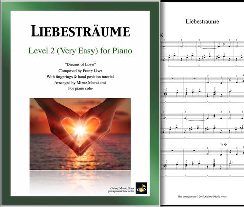 Liebestraume Level 2 - Cover & 1st page