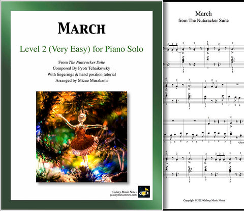 March | Nutcracker | Level 2 - Cover sheet & 1st page