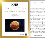 Mars from The Planets Level 6 - Cover sheet & 1st page