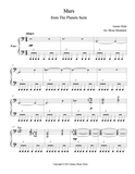 Mars from The Planets Level 6 - 1st piano music sheet