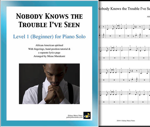 Nobody Knows the Trouble I've Seen Level 1 - Cover & page 1