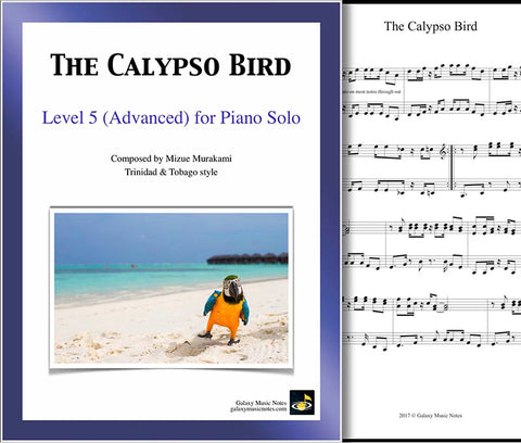 The Calypso Bird Level 5 - Cover sheet & 1st page
