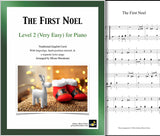 The First Noel: Level 2 - 1st piano page & cover