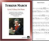 Turkish March by Beethoven Level 3 - Cover sheet & 1st page