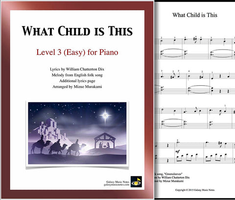 What Child is This Level 3 - Cover sheet & 1st page