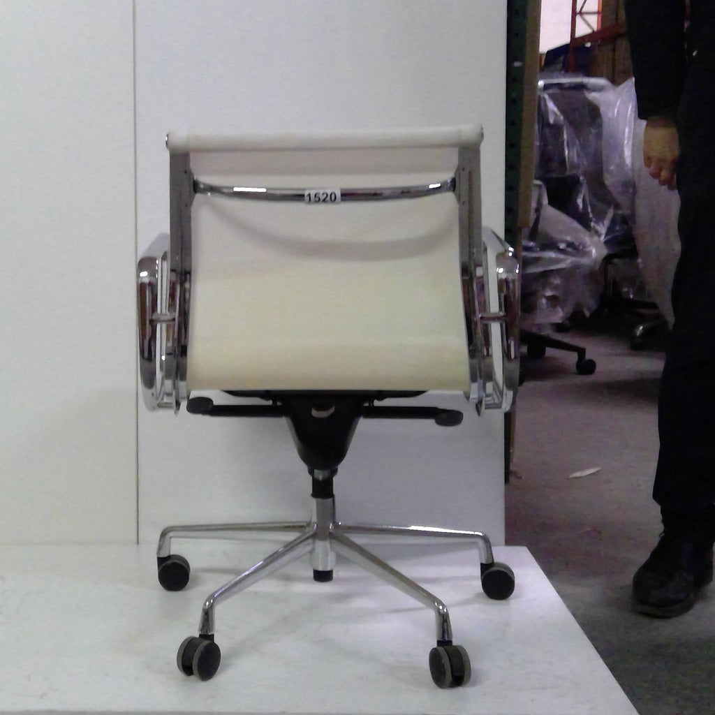 Sale Wobi Reed Lowback Chair (White Mesh) #1520 - Office Furniture Heaven